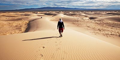 Dunes and Steppe trekking tour in Mongolia